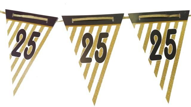 25th Anniversary Bunting