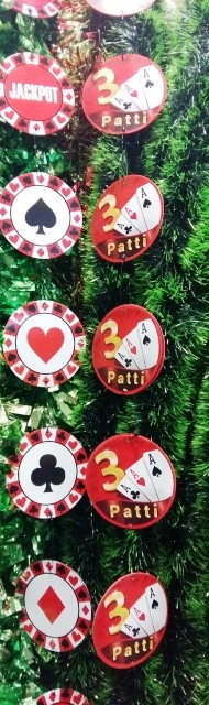Assorted Casino String decoration (set of 3)