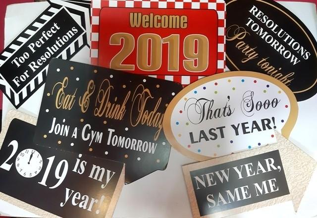 2019 Happy New Year  (Set of 7)