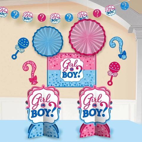 Boy or Girl Room Decorating Kit ( set of 10 )