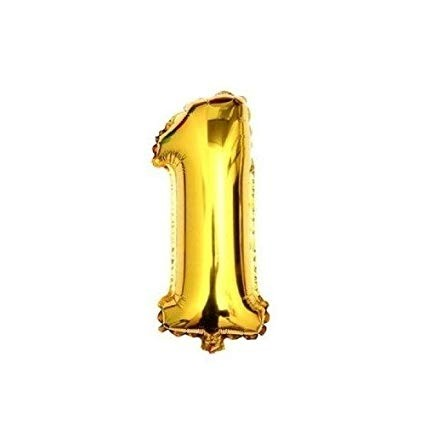 Gold  Numeric 1 Foil Balloon 24""