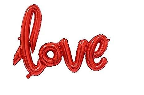 LOVE Letter Foil Balloon (Red )