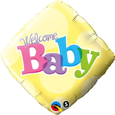 Welcome Baby Square Shape Foil Balloon 18''