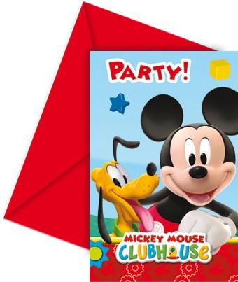 Mickey Invitation Cards (set of 6)