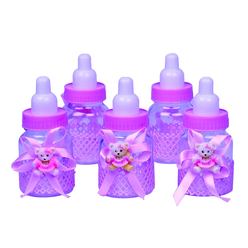Baby Bottles - Pink (Set of 5)