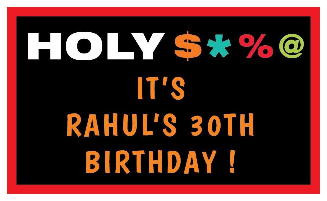 Holy S*%#  Personalized Birthday Banner