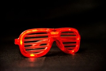 Lines with Light Party Glasses