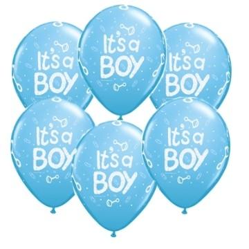 It's a Boy latex balloons