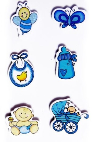 Baby Stickers - Blue