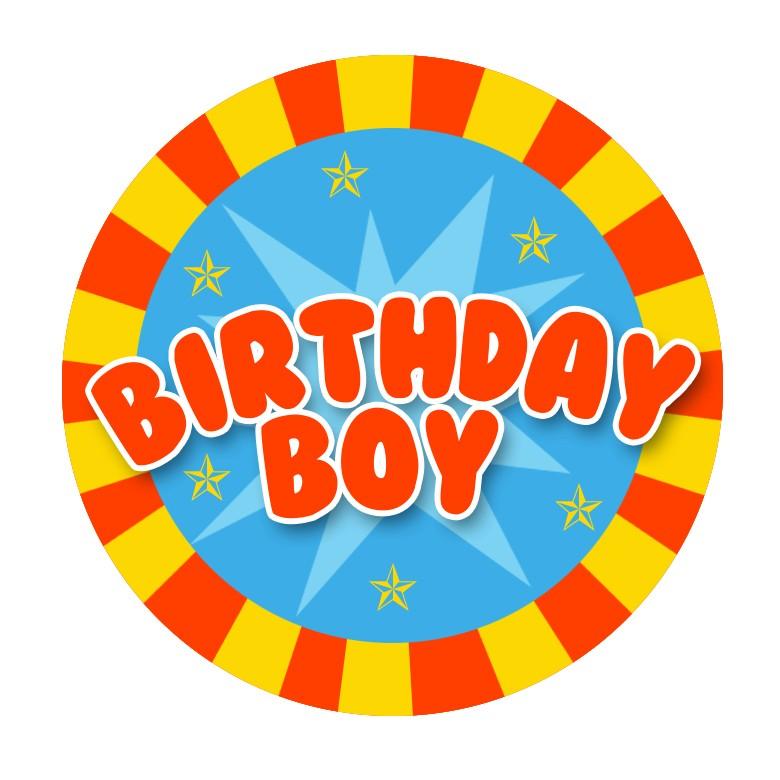 Birthday Boy Birthday Badge