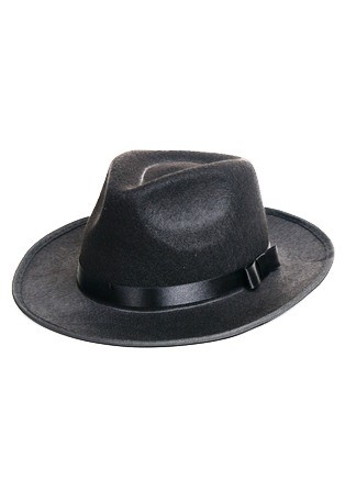 Retro Black Felt Hat