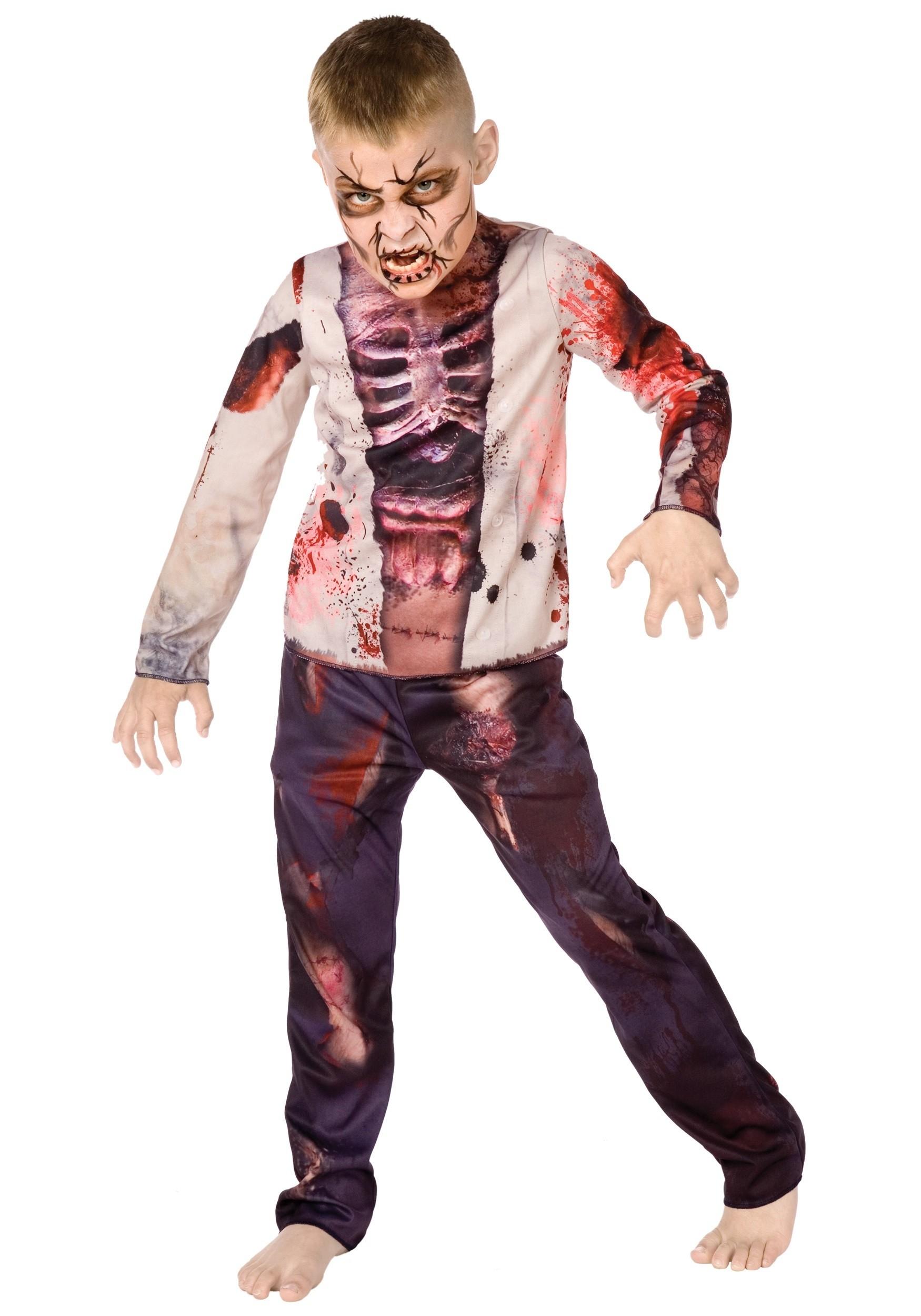Costume - Zombie Boy ( 7 - 9 years Size XL )