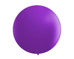 Jumbo Purple Latex balloon 25''