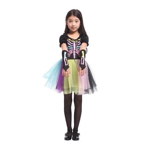 RAINBOW SKELETON Child Costume (5-8 Age)