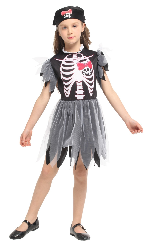 Naughty Skeleton Girl Child Costume ( SizeM 3 -5 Years )