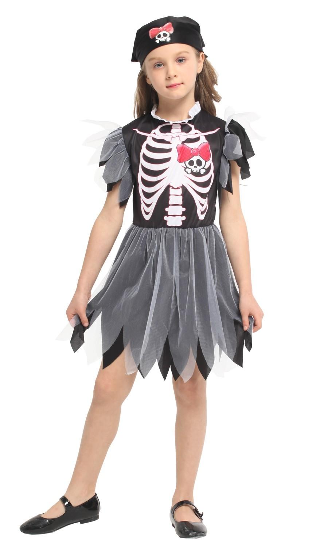 Naughty Skeleton Girl Child Costume ( Size XL 7 -9 Years )