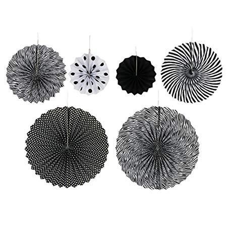 Paper Fan Set - Black
