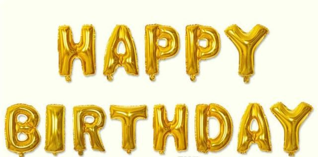 Happy birthday letter foil balloon(Gold)