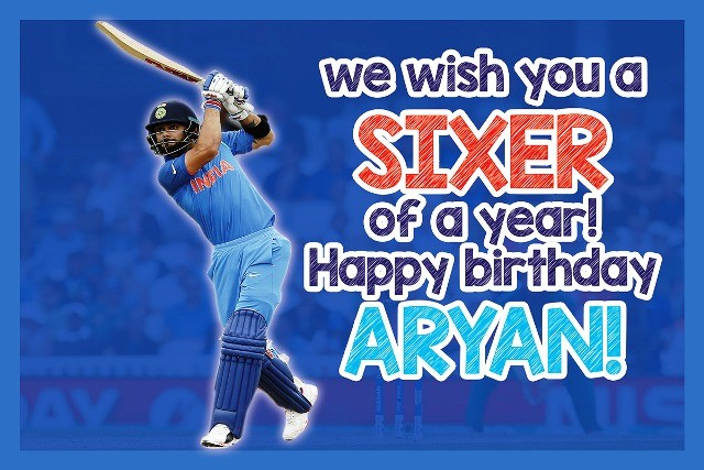 Birthday Cricket Theme Banner