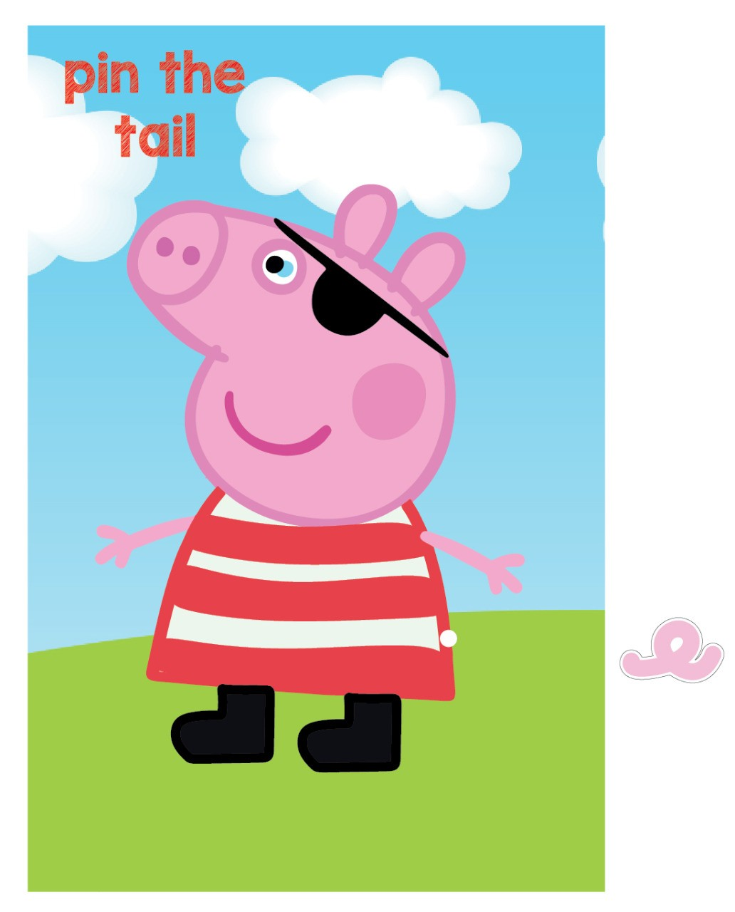 Pin the tail Peppa game