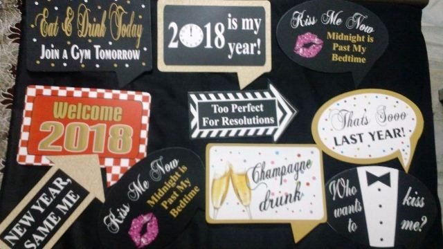 2018 Photo Booth Boards (Set of 10)