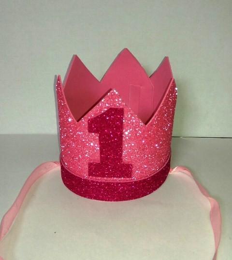 1st Birthday Girl Foam Crown