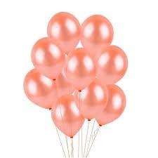 Rose Gold Latex Balloons (Set of 10)