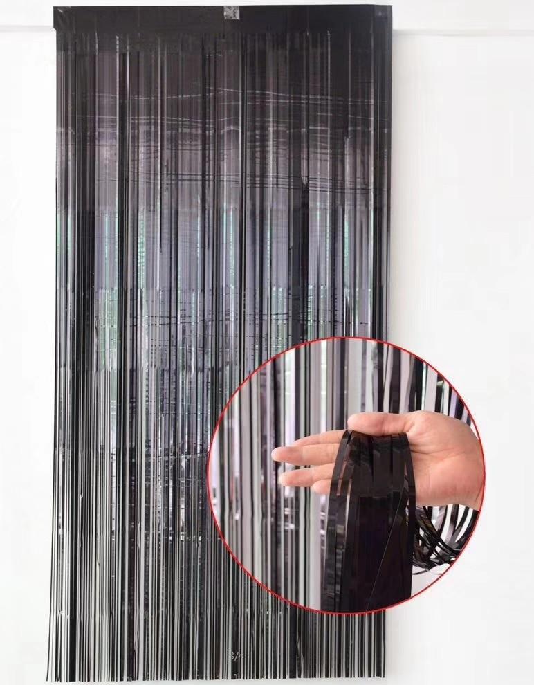 Black Foil Curtain