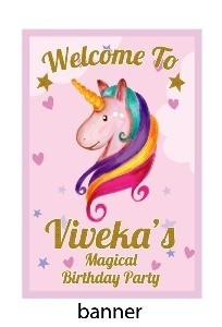 Personalised unicorn banner