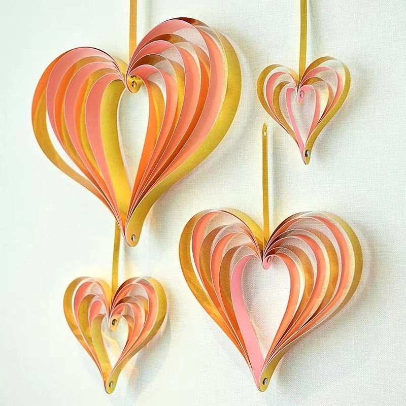 Heart Dangler Swirls  ( Set of 4 )