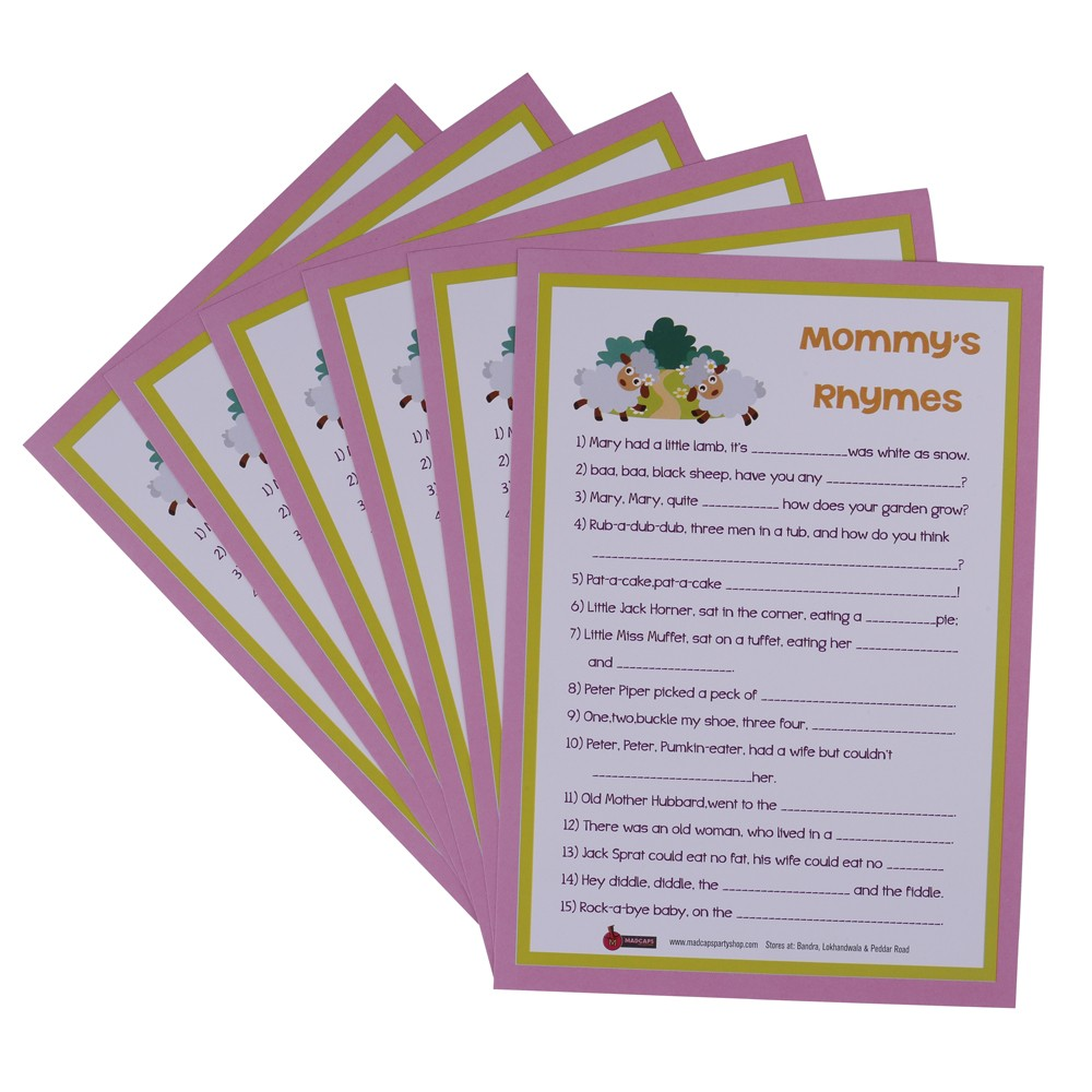 Mommy's Rhymes Game ( set of 6)