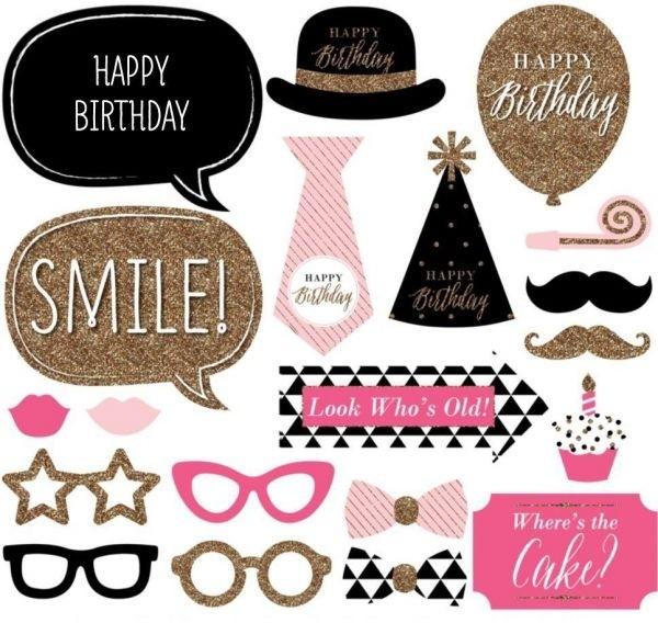 Photo Stick Set - Birthday