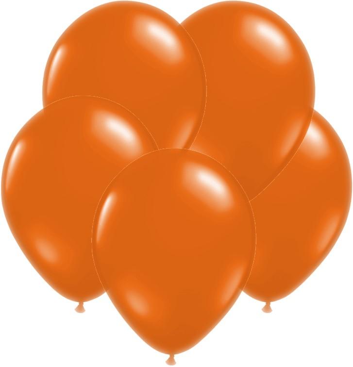 Orange Pearl Latex Balloons- set of 10