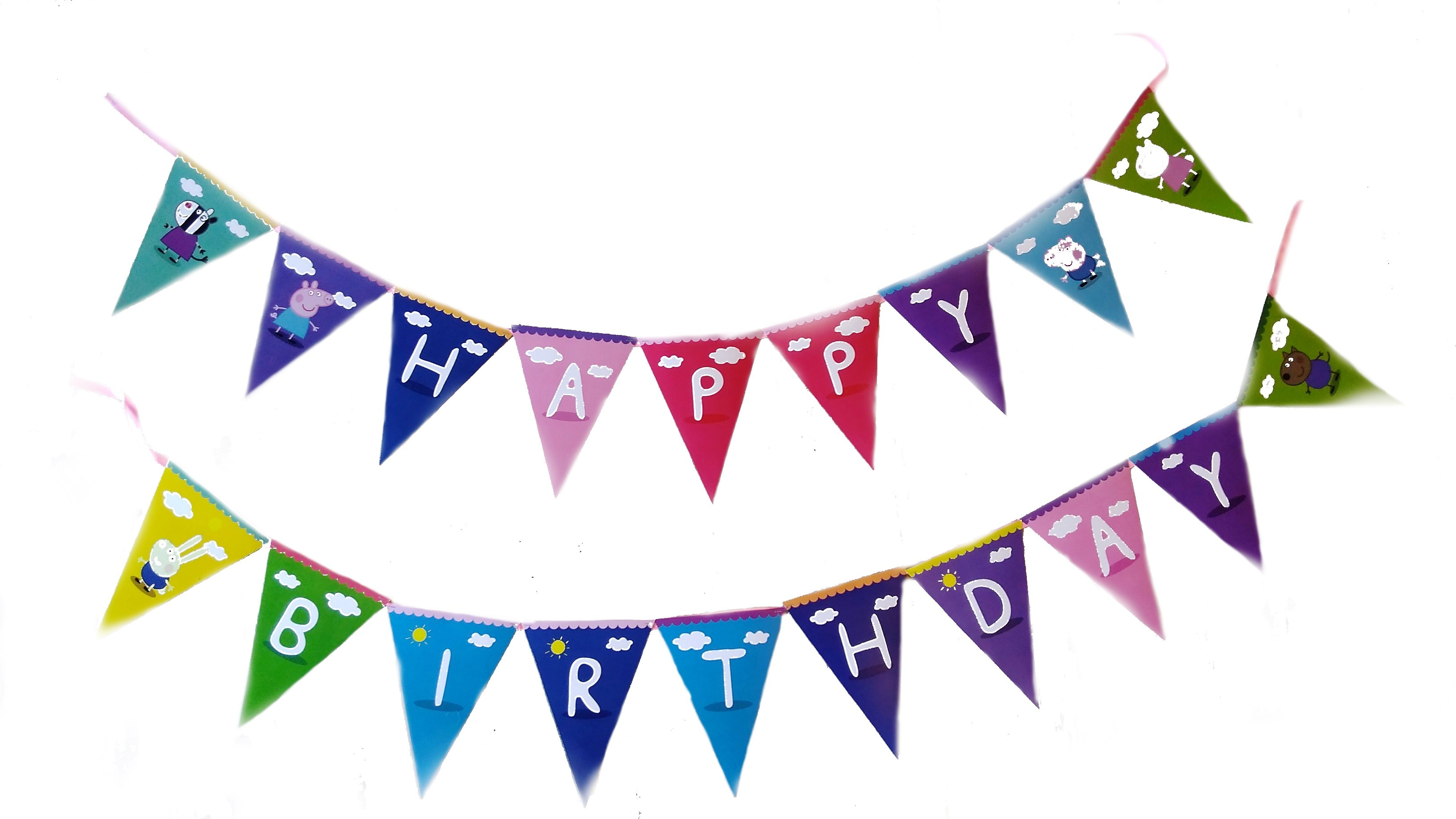 Peppa Pig Birthday Bunting