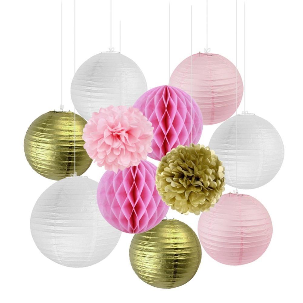 Décor Set - Pink Gold White