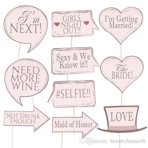 Wedding Photo booth Stick set ( set of 10)