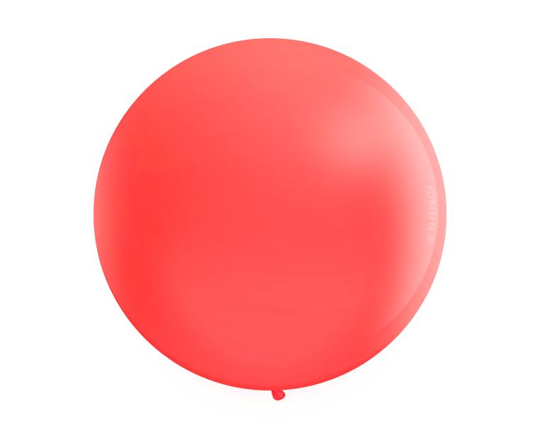 Jumbo Red Latex balloon 25''