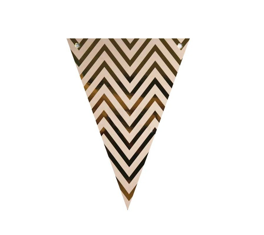 Bunting - Chevron Gold