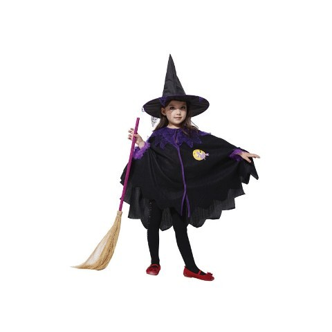 WITCH CAPE Child Costume (SMALL- 3-5 Years)