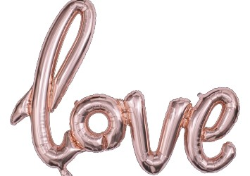 LOVE letter Foil Balloon (Rose gold)