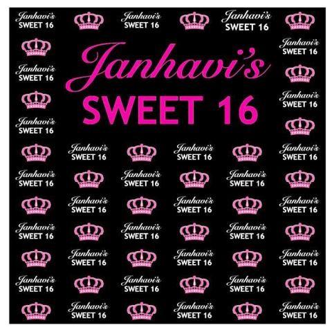 Personalised Sweet 16 Banner