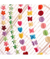Paper string garland