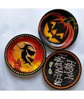 Halloween Paper Plates 9'' ( Set of 10pc)