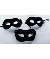 Mask Half Felt Black ( set of 3 )