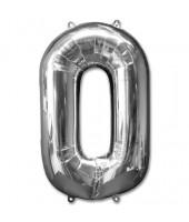 Numeric 0 Foil Balloon 24