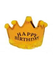 Happy Birthday Tiara Yellow