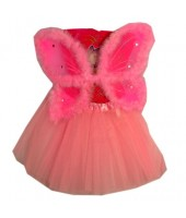 PINK Wings & Skirt Set - Pink Fairy Costume for girl(2-4Age)