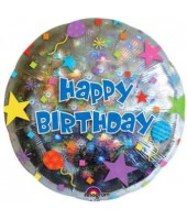 Sparkling Round Birthday Foil Balloon 18''
