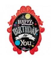 Happy Birthday Supershape Foil Balloon 32''