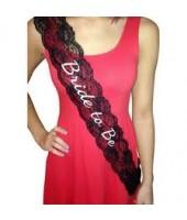 Bride to be lace Sash ( Black)
